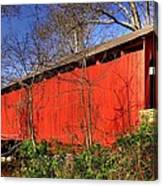 Pennsylvania Country Roads - Wagoners Covered Bridge Over Bixlers Run - Perry County Canvas Print