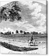Pennsylvania Farm, 1795 Canvas Print
