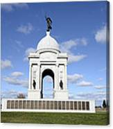 Pennsylvania Memorial At Gettysburg Battlefield Canvas Print