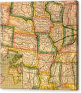 Pennsylvania Railroad Map 1879 Canvas Print