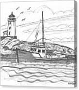 Peggy's Cove Lighthouse Nova Scotia Canvas Print