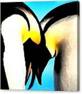 Penquin Love Dance Canvas Print
