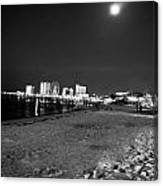 Pensacola Beach At Night Canvas Print