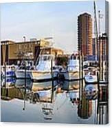 Pensacola Beach Harbor Panoramic Canvas Print