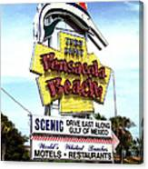 Pensacola Beach Sign Canvas Print
