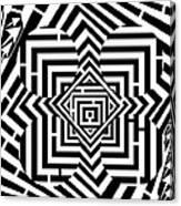 Penta Spheres Maze  Canvas Print