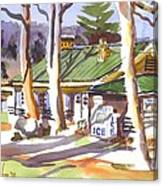Penuel Lodge In Winter  Canvas Print
