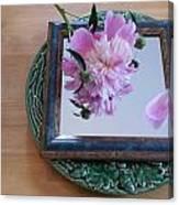 Peony Square Circle Sora's Flower Canvas Print