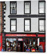 People At A Restaurant, Mccarthys Bar Canvas Print
