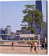 People Playing Beach Volleyball Canvas Print