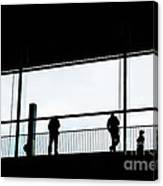 People Silhouettes In Airport Canvas Print