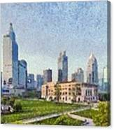 People Square In Shanghai Canvas Print