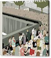 Memorial Plaza Canvas Print