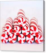 Peppermint Twist - Candy Canes Canvas Print
