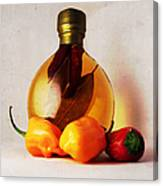 Peppers And Oil Canvas Print