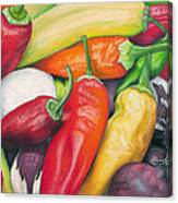 Peppers And Onions Canvas Print