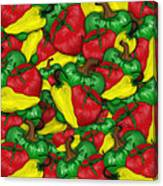 Peppers And Tomatos Canvas Print