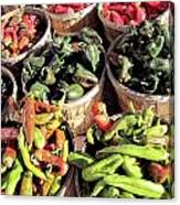 Peppers By The Bushel Canvas Print