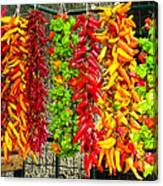 Peppers For Sale Canvas Print