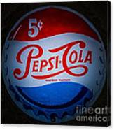Pepsi Cap Sign Canvas Print