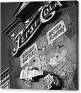 Pepsi Cola Vintage Logo  Canvas Print