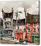 Perambulating In Ennistymon  Clare Canvas Print