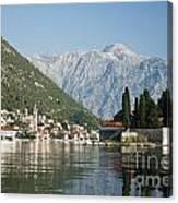 Perast In Kotor Bay Montenegro Canvas Print