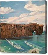 Perce Rock Gaspe  Quebec Canvas Print