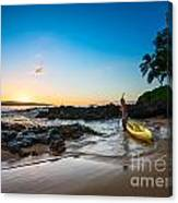 Perfect Ending - Beautiful And Secluded Secret Beach In Maui Canvas Print