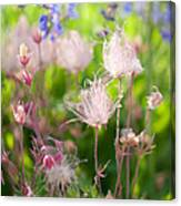 Flowers With Pink Hair Canvas Print