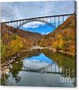 Perfect Reflections Of The New River Gorge Bridge Canvas Print