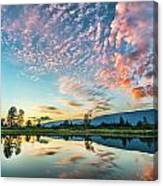 Perfect Sunset Clouds Canvas Print