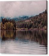 Perfectly Cloudy Lake Canvas Print