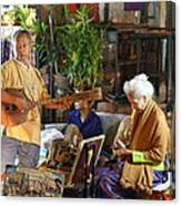 Performers - Night Street Market - Chiang Mai Thailand - 01134 Canvas Print