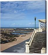 Pergola Da Foz At Praia Do Molhe Beach In Porto Canvas Print