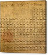 Periodic Table Of The Elements Canvas Print