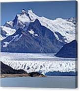 Perito Moreno Glacier - Snow Top Mountains Canvas Print