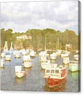 Perkins Cove Lobster Boats Maine Canvas Print
