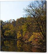 Perkiomen Creek In Autumn Canvas Print