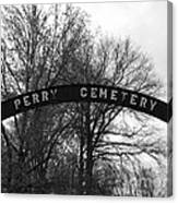 Perry Cemetery Canvas Print