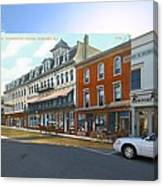 Perry House At Washington Square In Newport Rhode Island Canvas Print
