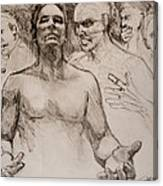 Persecution Sketch Canvas Print