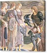 Perseus And The Sea Nymphs, C.1876 Canvas Print