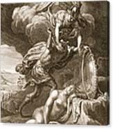 Perseus Cuts Off Medusas Head, 1731 Canvas Print