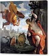 Perseus Rescuing Andromeda Canvas Print