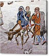 persian lady on horse with her baby              Close up photos by myself of Persian antique carpet Canvas Print