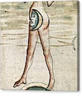 Personification Of Luna, 15th Century Canvas Print