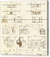 Perspective And Scenographic Diagrams. Canvas Print