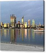 Perth By Sunset  Canvas Print