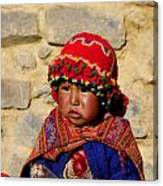 Peru Baby Canvas Print